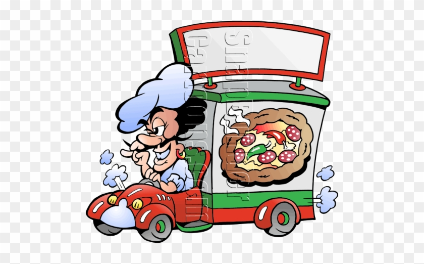Pizza Chef Deliver Pizza - Frillio's Pizza Delivery Truck #572043