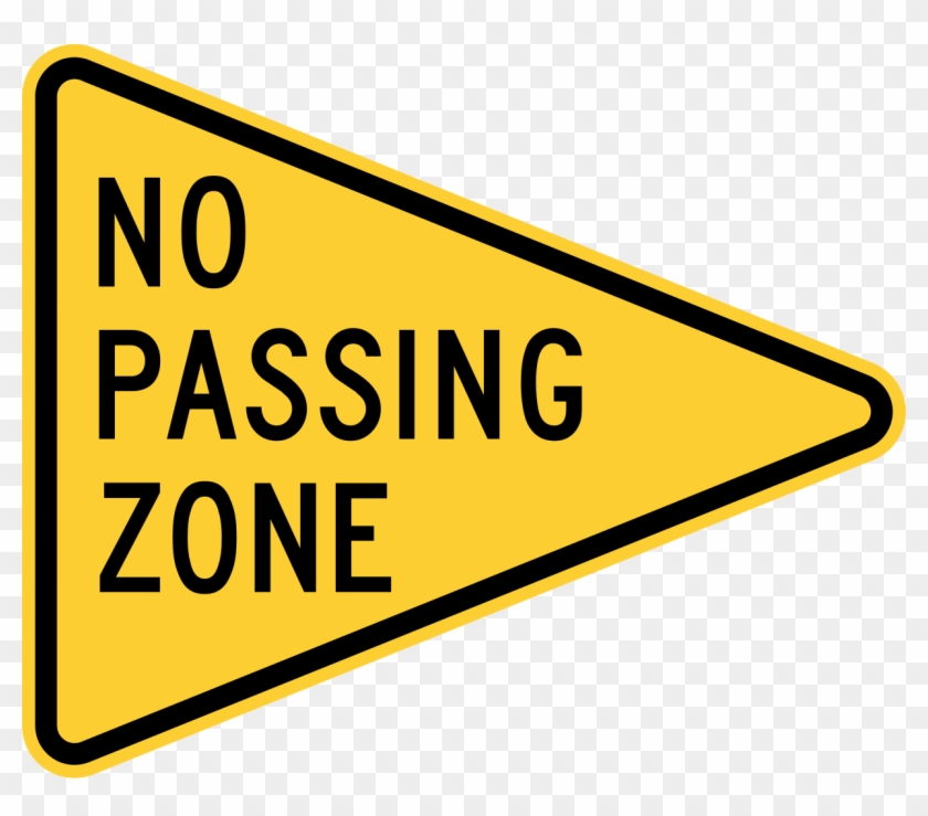 File - Mutcd W14-3 - Svg - No Passing Zone Road Sign #572090