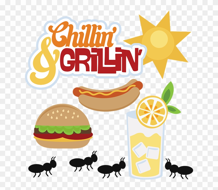 Hot Dog Clipart Grill Food - Hamburgers And Hotdogs Clipart #572121