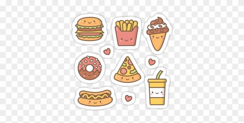 Fantastic Junk Food Png Transparent Images Image By - Sticker Kawaii Love #572124