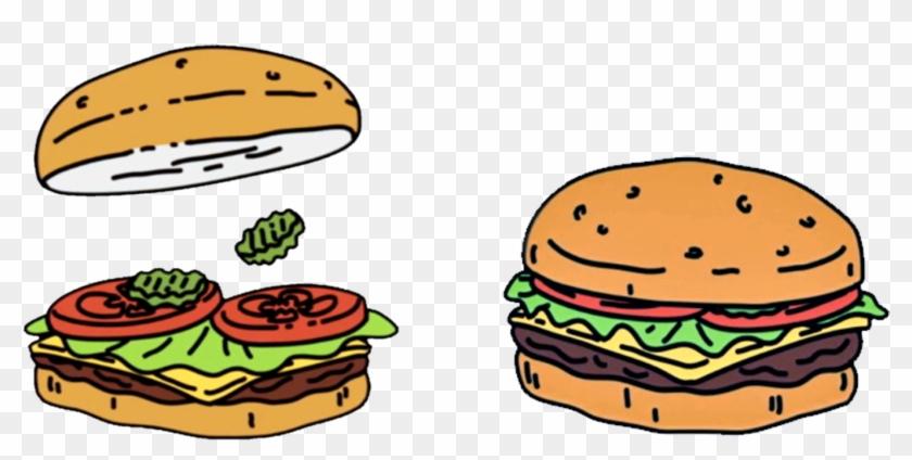 Hamburger Cheeseburger Veggie Burger Fast Food Bob's - Bob's Burgers Burger Png #572172