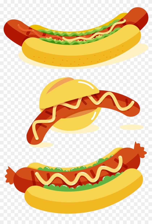 Hot Dog Bratwurst Sausage Fast Food - Bratwurst Vector #572257