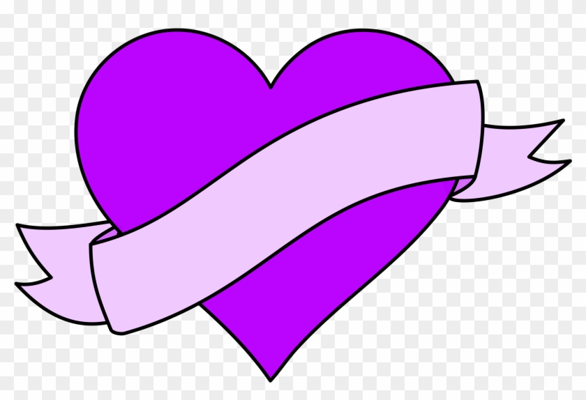 With Ribbon Banner - Heart With Ribbon #572363