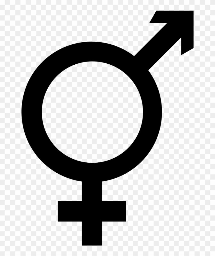 Unisex Public Toilet Wikipedia Womens Bathroom Sign - Male Female Symbol Combined #572478