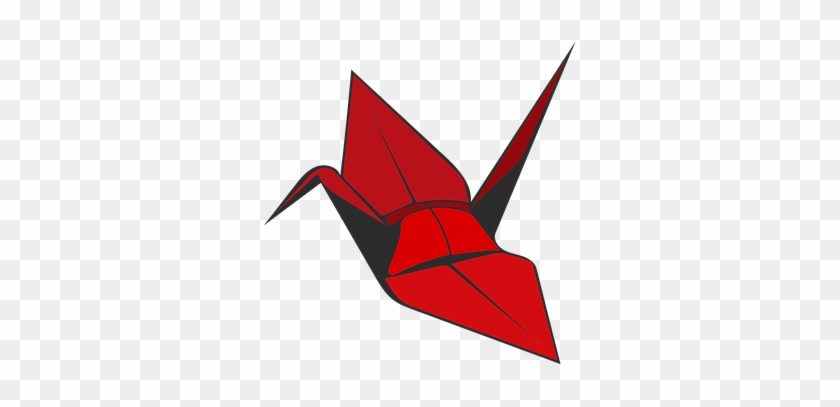 Origami Crane Red Bird Paper Origami Crane Transparent
