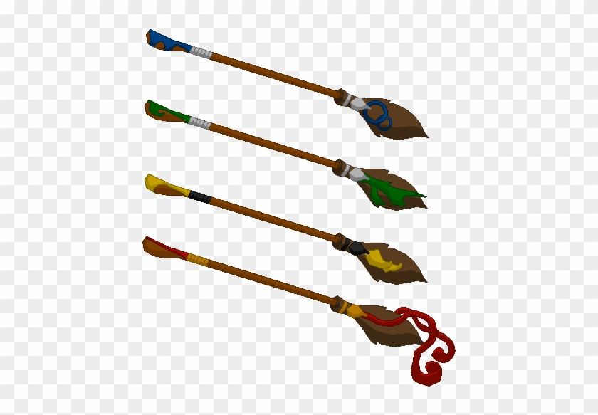 Harry Potter Quidditch Brooms Clipart - Hogwarts School Of Witchcraft And Wizardry #575745