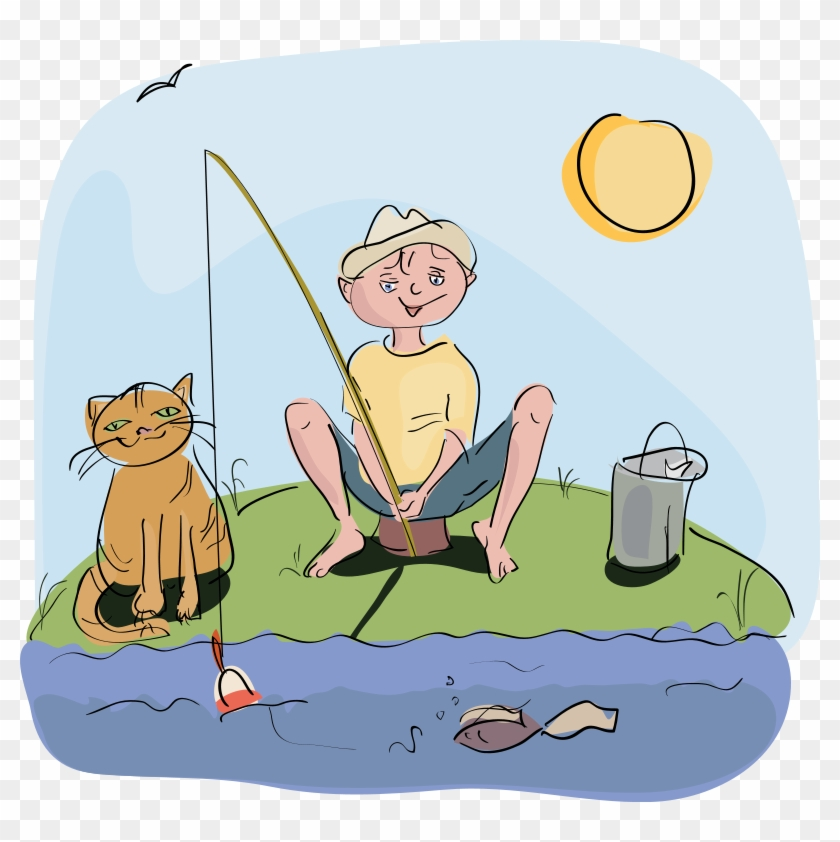 Fish Net Clipart Man Fishing Boy Fishing Clipart Free Free