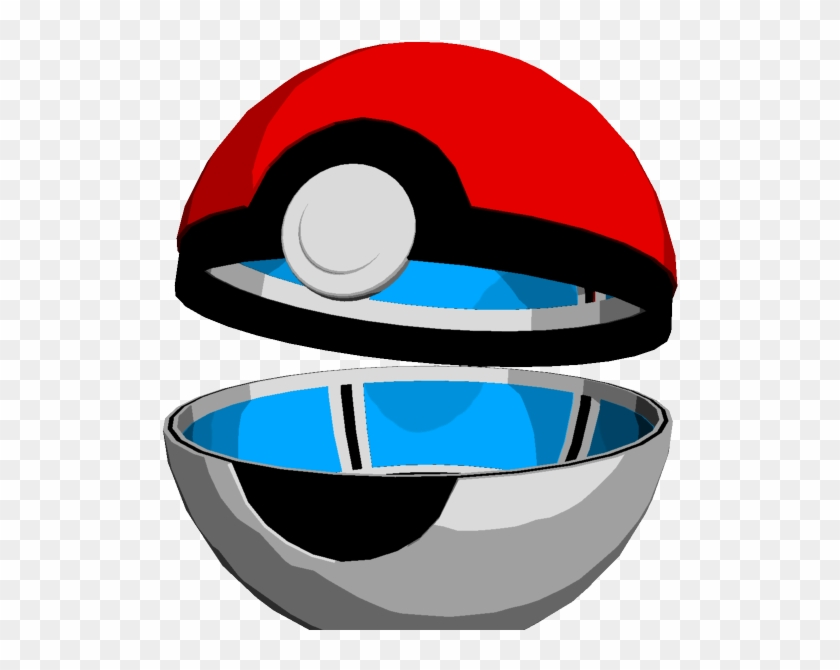Rendered Open Pokeball By Johtoproject