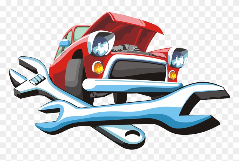 car automobile repair shop auto mechanic motor vehicle clip art