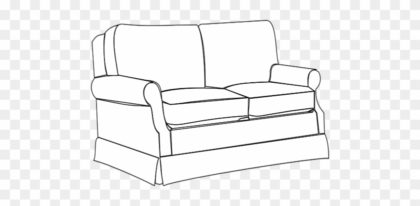 Coloring Trend Medium Size Sofa Clip Art Bw At Vector - Couch Clipart Colouring Pages Transparent #579486
