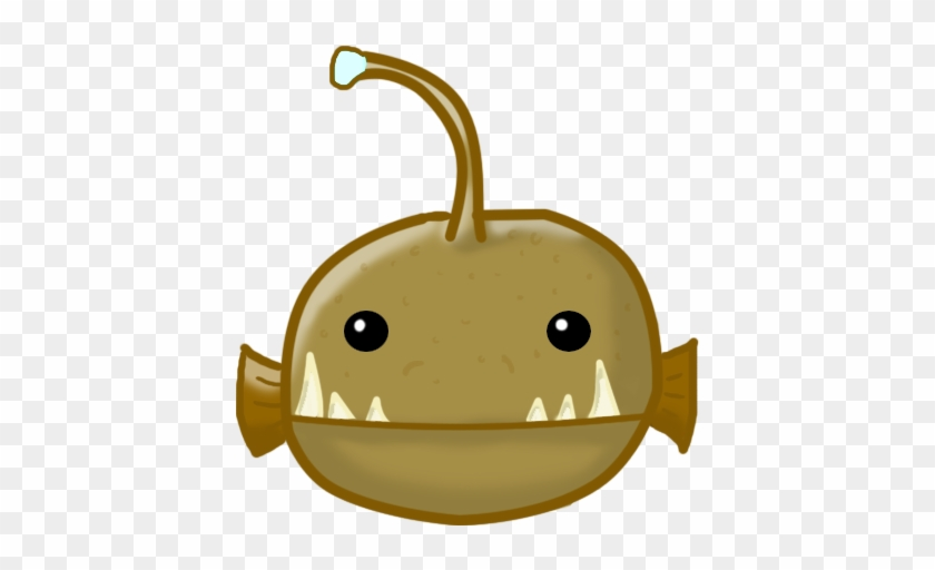 Anglerfish Clipart Cute - Angler Fish Drawing Cute #579735