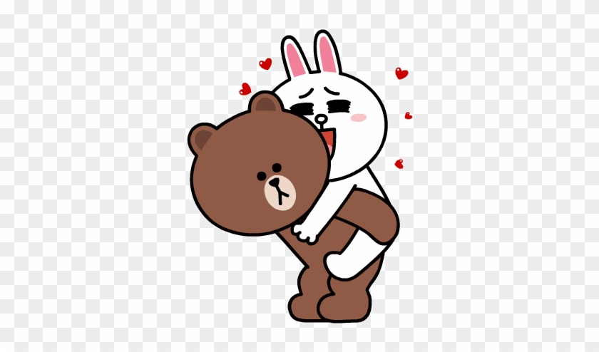 Brown Line Sticker Png Kamos Sticker - Line Friends Brown Sticker