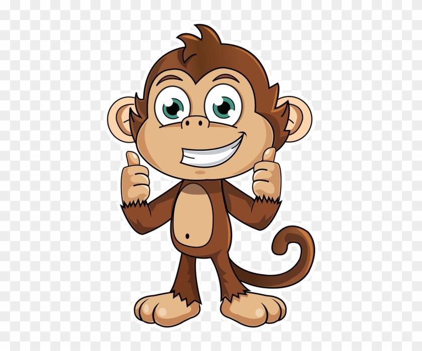 Рисунок обезьянки для детей, вербное