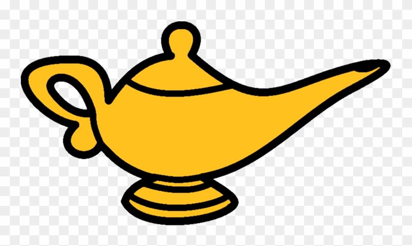 Genie Lamp Clipart Oil Lamp - Oil Lamp Genie Png #580491