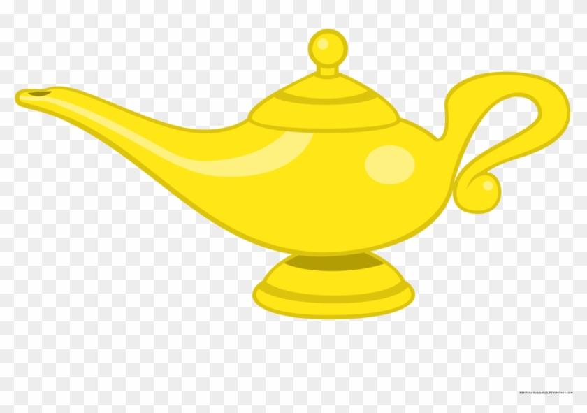 Genie Lamp Clipart Character - Aladdin's Lamp - Free ...