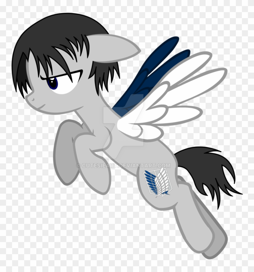 Levi Pony Attack On Titan By Cutesieart Attack On Titan Pony Free Transparent Png Clipart Images Download
