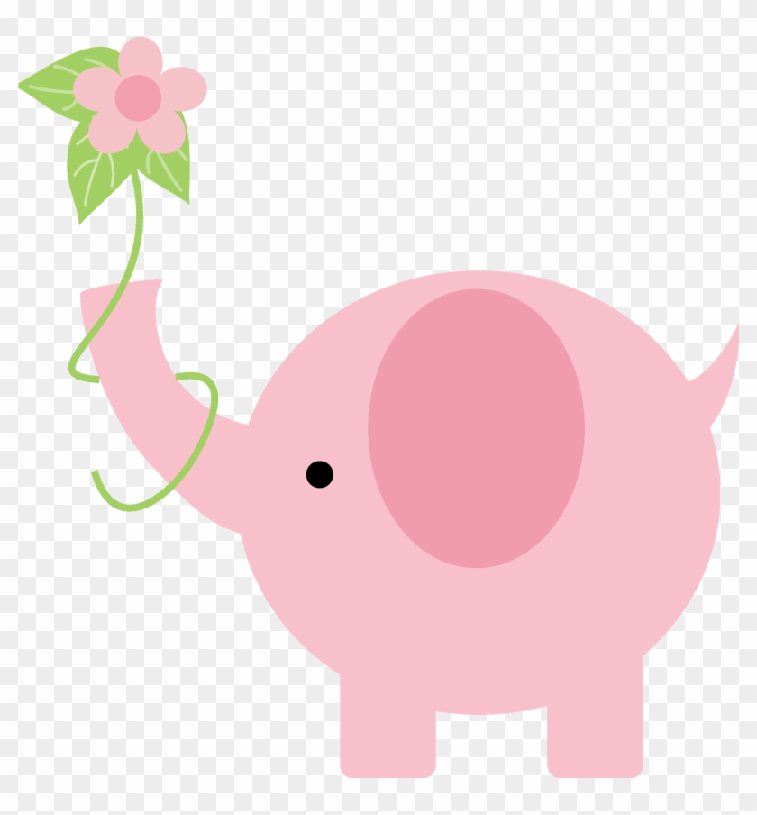 Pink Elephant Baby Shower Clip Art 960459 - Baby Elephant Pink Png #581267