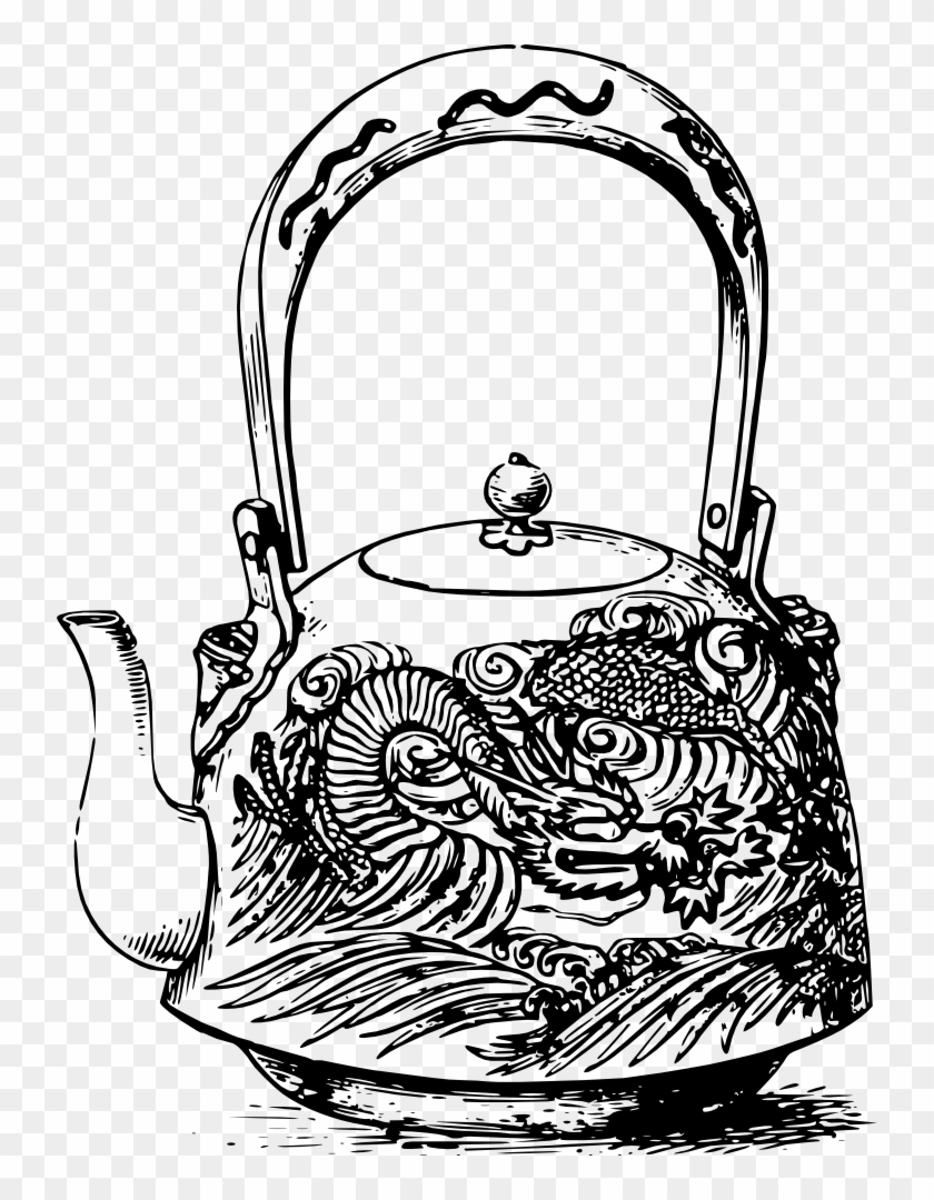 Japanese Dragon Teapot - Japanese Tea Pot Clip Art #581596