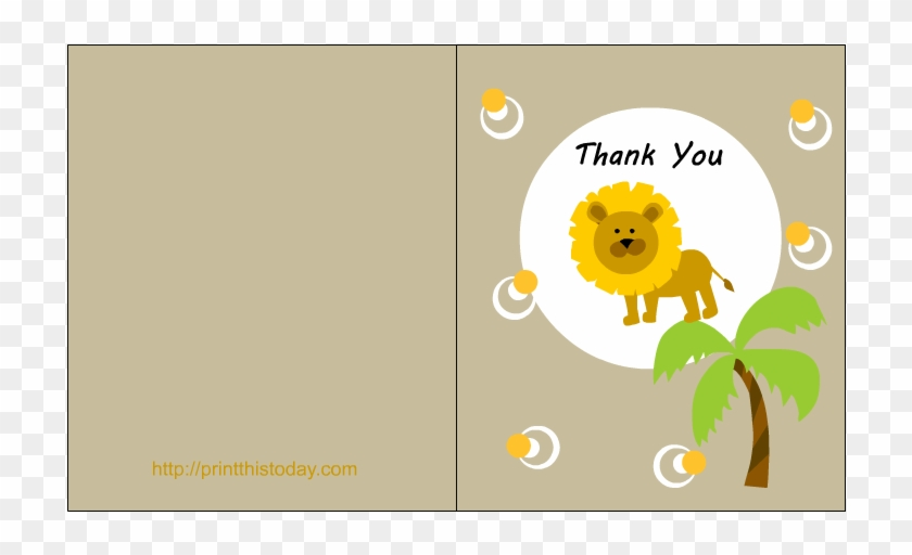 Free Printable Jungle Themed Baby Shower Thank You - Monkey Thank ...