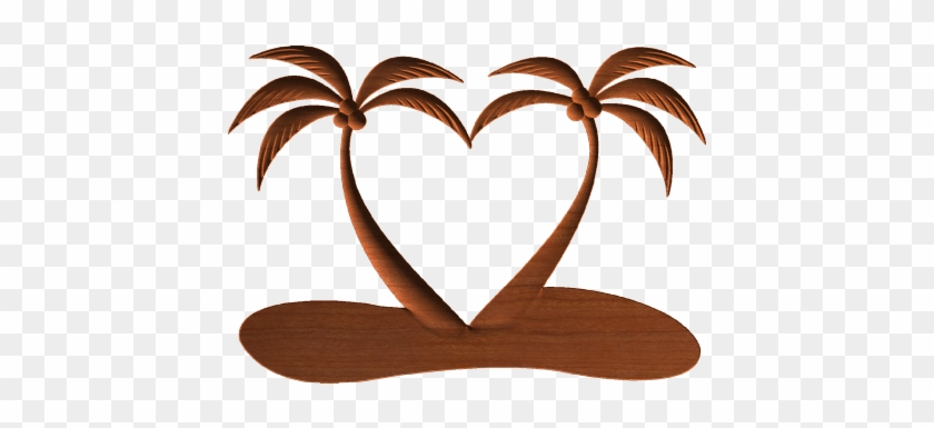 Tropical Heart - Palm Trees Making A Heart #581671