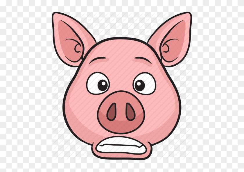 Animal, Cartoon, Cute, Emoji, Pig Icon Icon Search - Pig Face Cartoon #581739