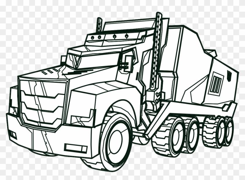 Transformers Optimus Prime Truck Color Me - Optimus Prime Truck Coloring #582073