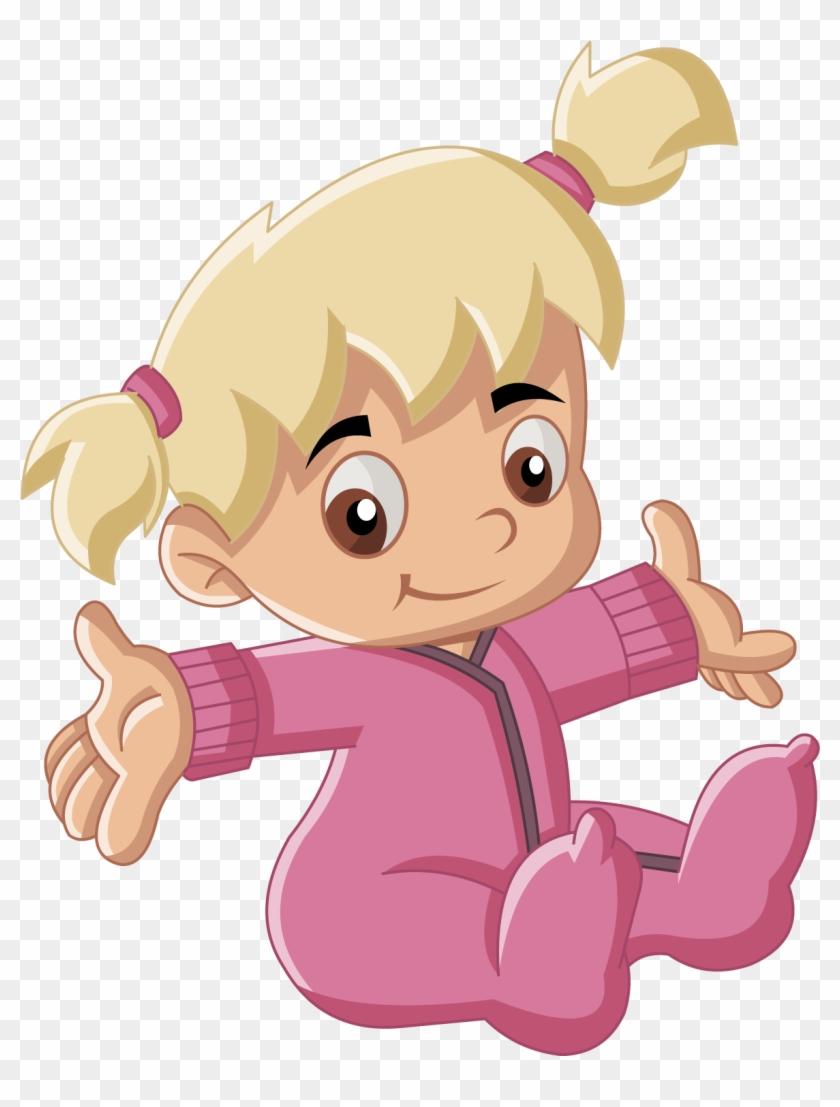 Infant Boy Child Cartoon Illustration - Baby Animation Girl And Boy #582128