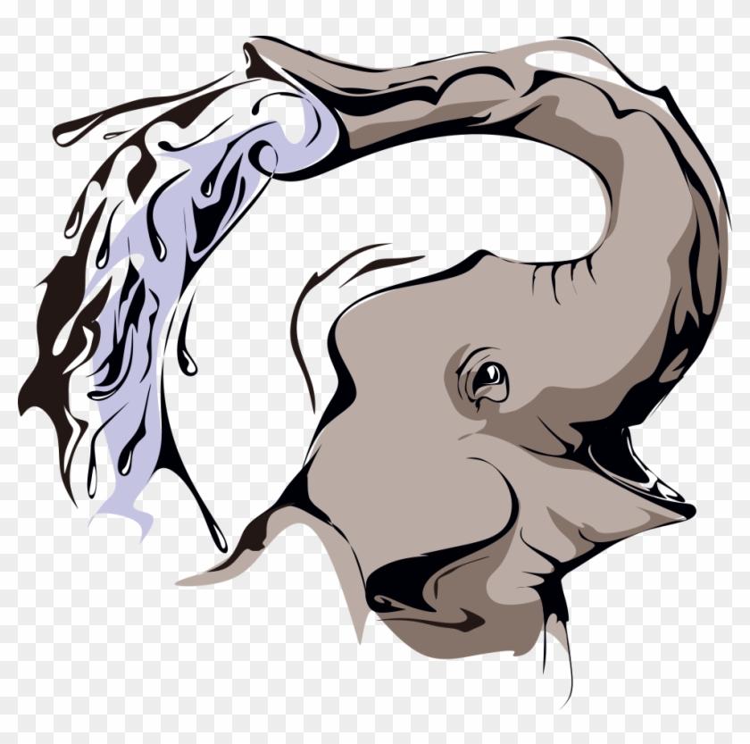 Elephant Cartoon Clip Art - Elephant Cartoon Clip Art #582258