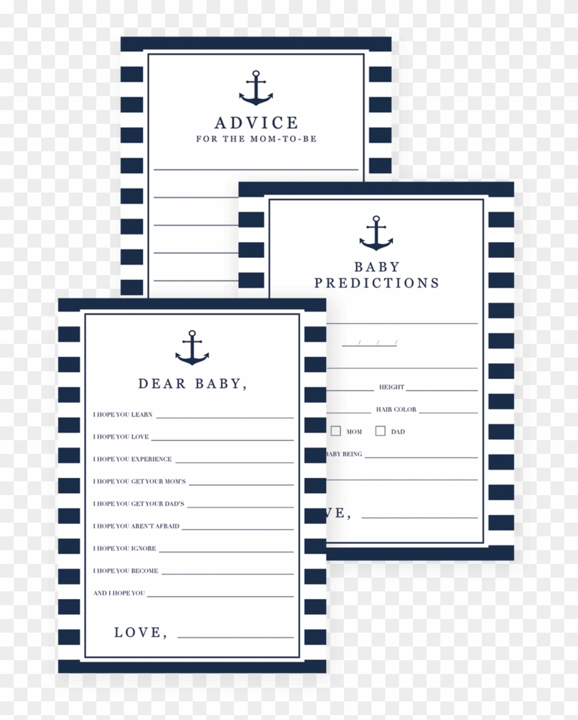 picture about Baby Prediction Cards Free Printable named Nautical Kid Shower Online games Down load Via Littlesizzle - Kid