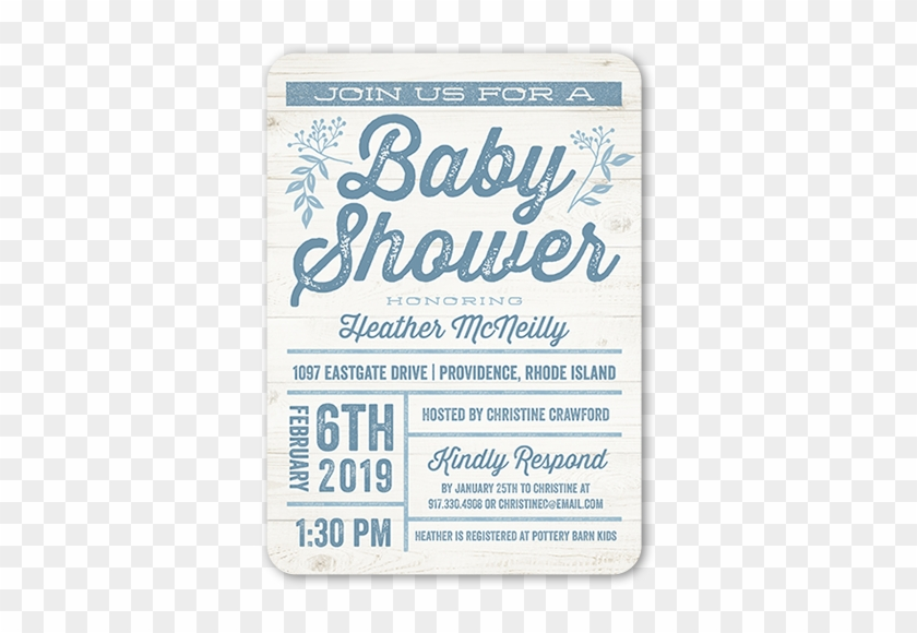 Arrival Grid Boy Baby Shower Invitation - New Baby Boy Card #582539