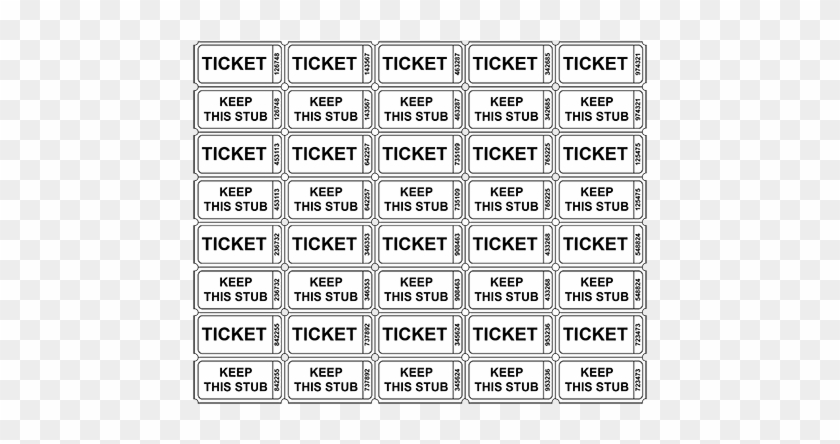 picture relating to Printable Raffle Tickets With Stubs named numbered raffle tickets template absolutely free - Mozo
