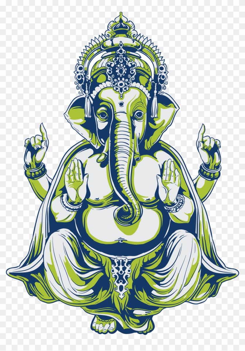 Ganesha Indian Elephant African Elephant Tattoo - Ganesha Indian Elephant African Elephant Tattoo #583107