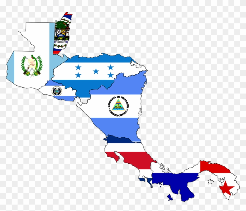 Central America Flag Map Free Transparent Png Clipart Images Download