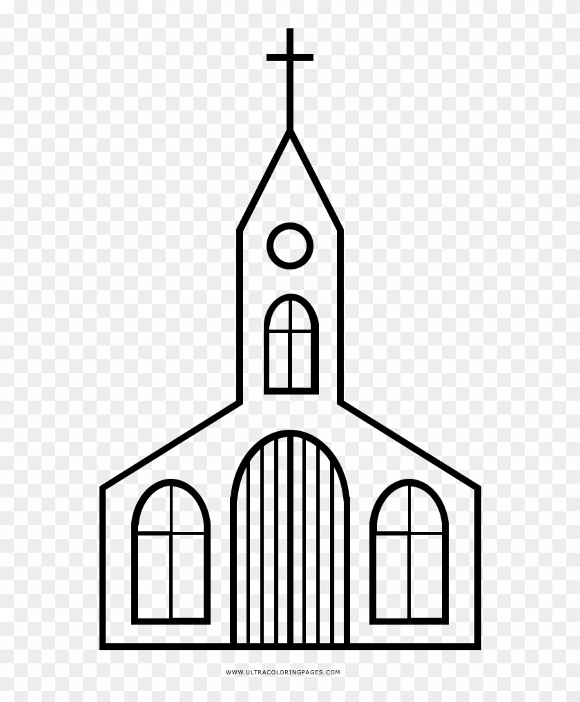 Dibujo De Iglesia Para Colorear