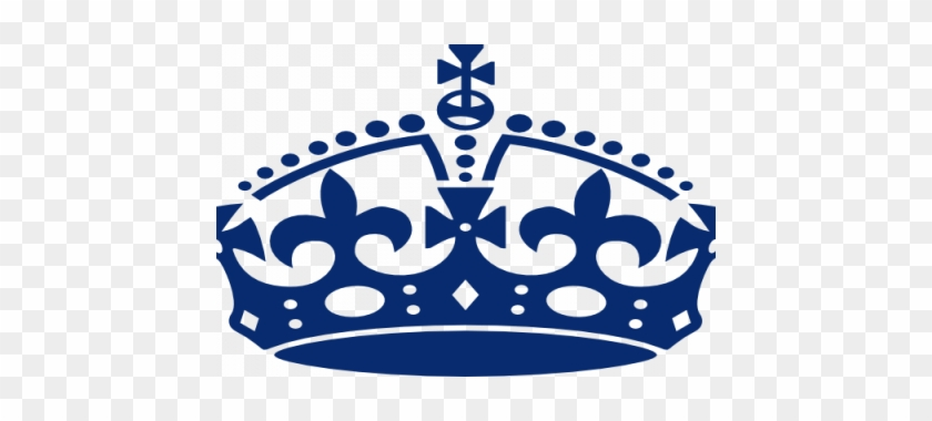 Crown Clipart Light Blue - Keep Calm Crown Png #585525
