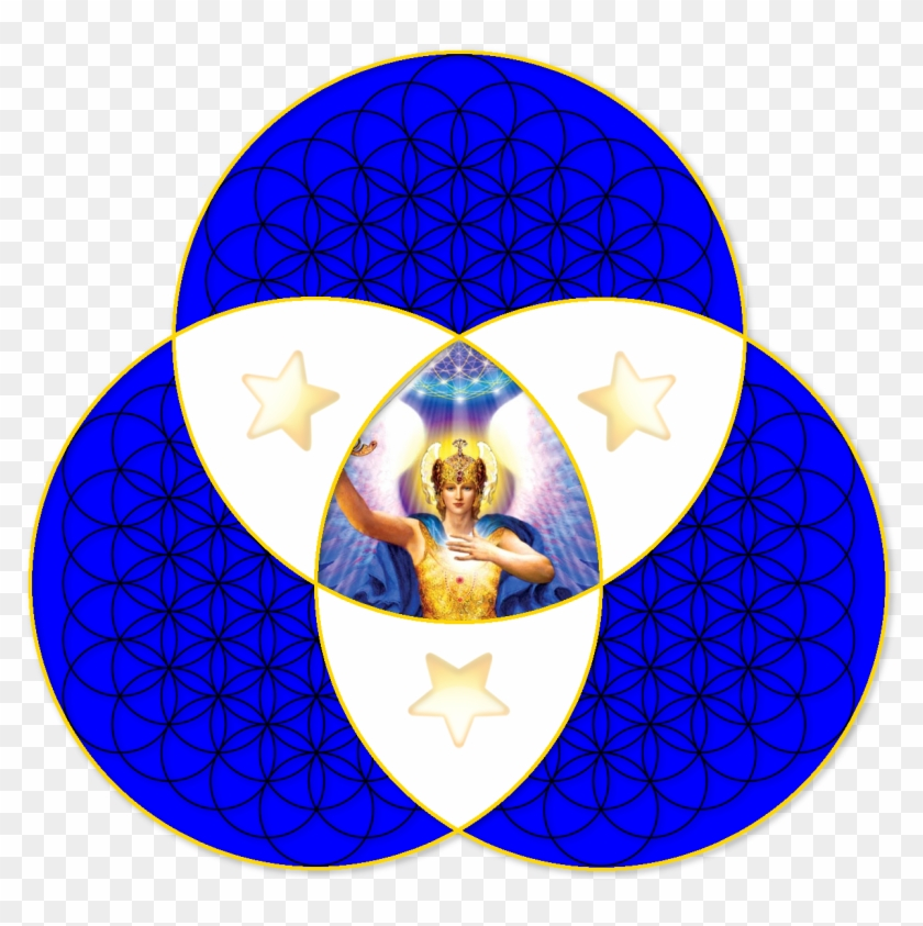 Triquetra Blue Vector Ds Aa Michael Emoji Star Outer - Triquetra And Three Circles #586087