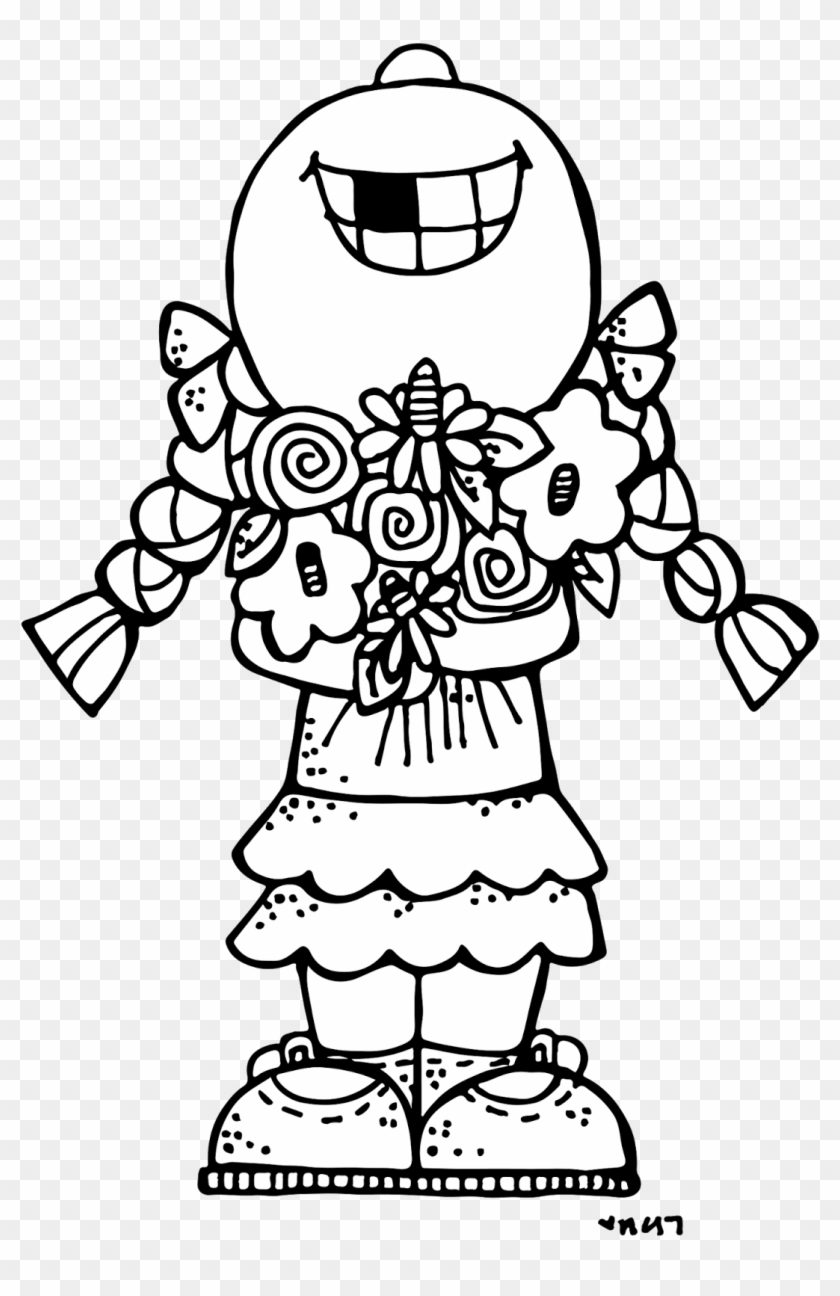 Really Cute Coloring Pages Many Interesting Cliparts - Melonheadz Clipart Black And White #586175