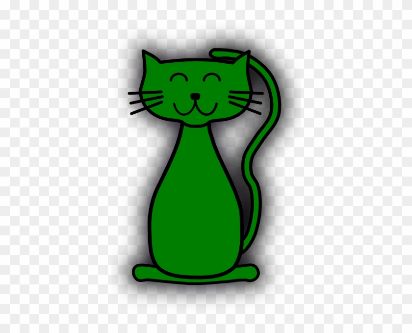 Green Cat Clip Art At Clker Com Vector Clip Art Online - Kitten Clip Art #586342