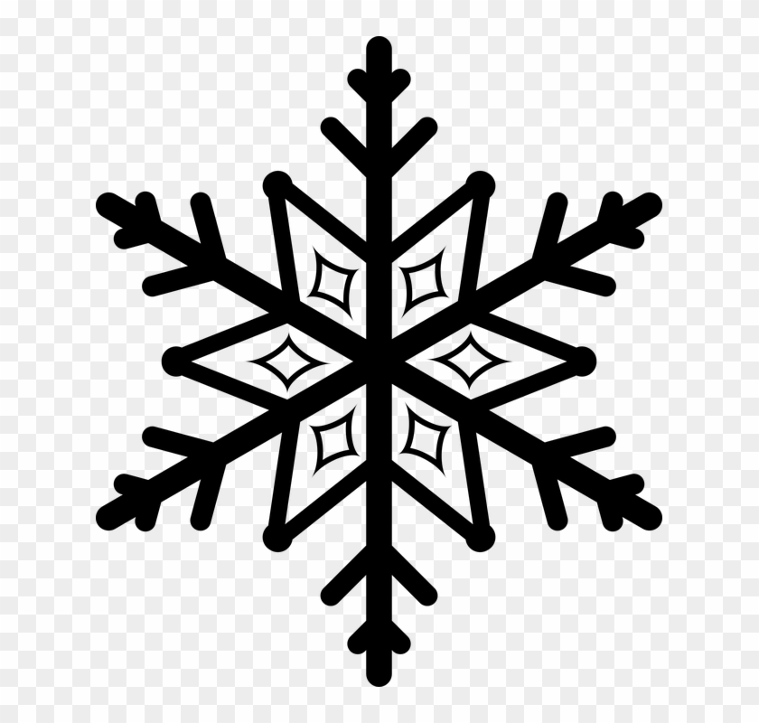 Small Snowflake Clipart Christmas Flyer Black And White Free Transparent Png Clipart Images Download