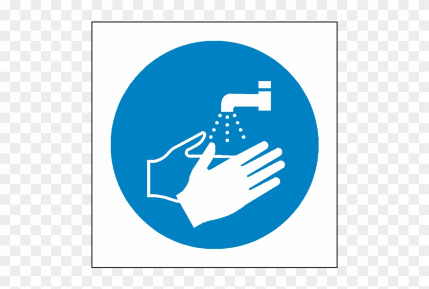 Wash Your Hands Symbol Label Wash Hands Safety Sign Free