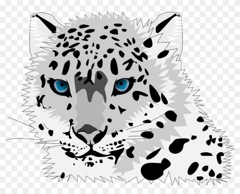 Animated Snowflakes Clipart 9, - Snow Leopard Throw Blanket #587049