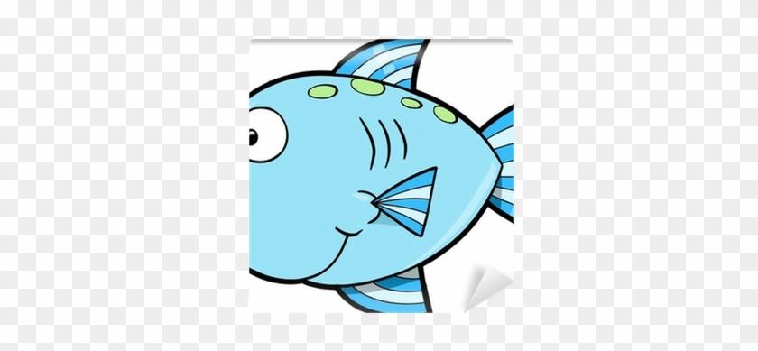 Silly Cute Fish Ocean Vector Illustration Wall Mural - Cartoon Cute Fish #587410