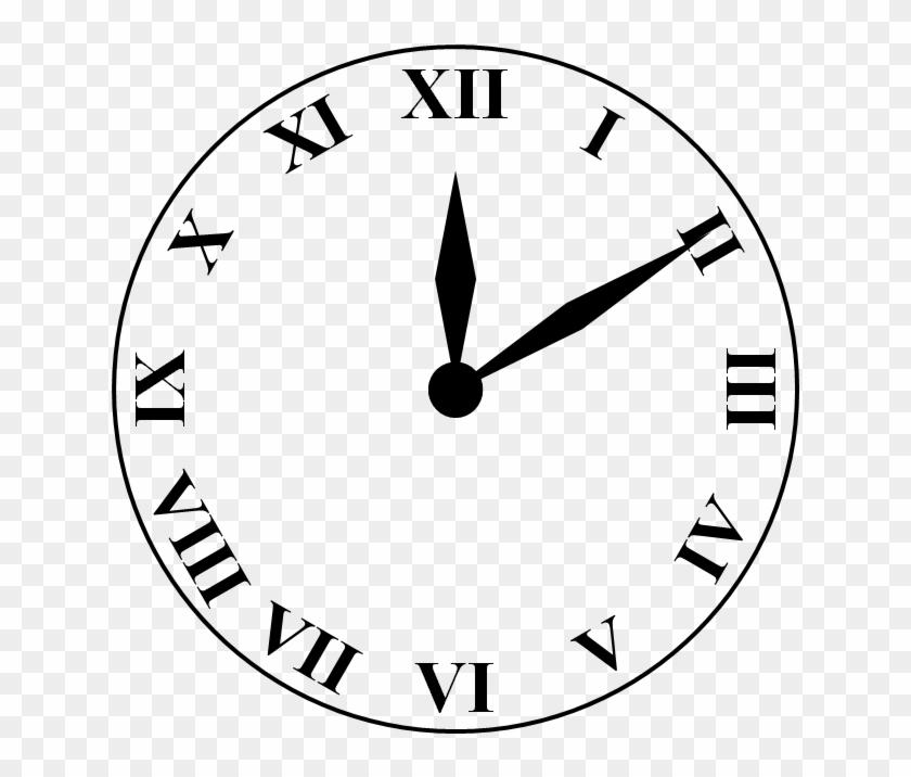 Molde Desenho De Relogio Reloj Numeros Romanos Png Free