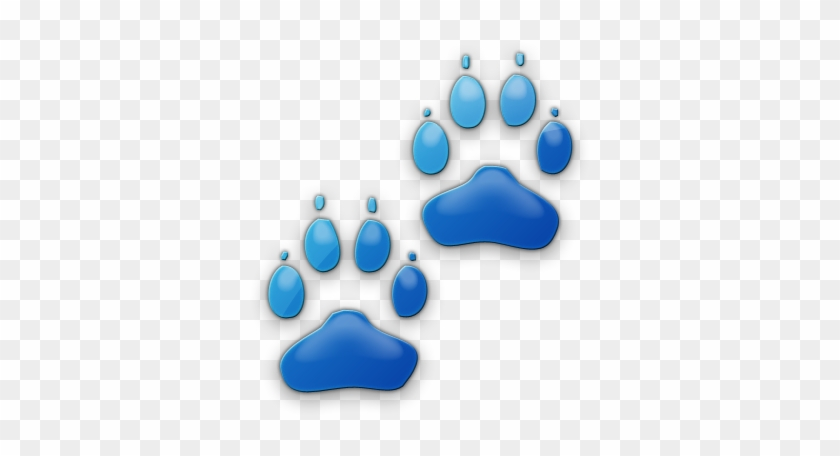 Speech And Language Therapy Clip Art - Cat Paw Print Blue #588215