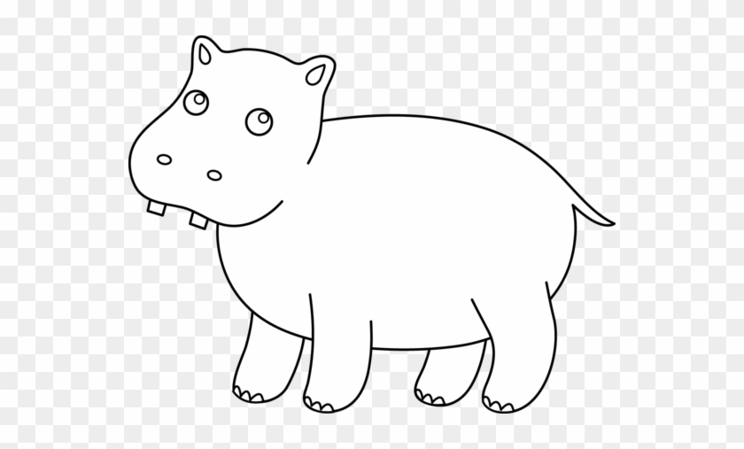 cute hippo coloring page clip art hippo outline