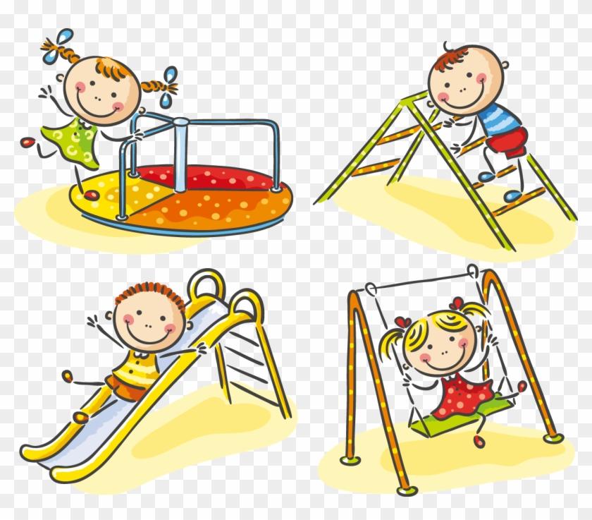 Child Playground Stock Photography - Children Playing In The Playground #588777