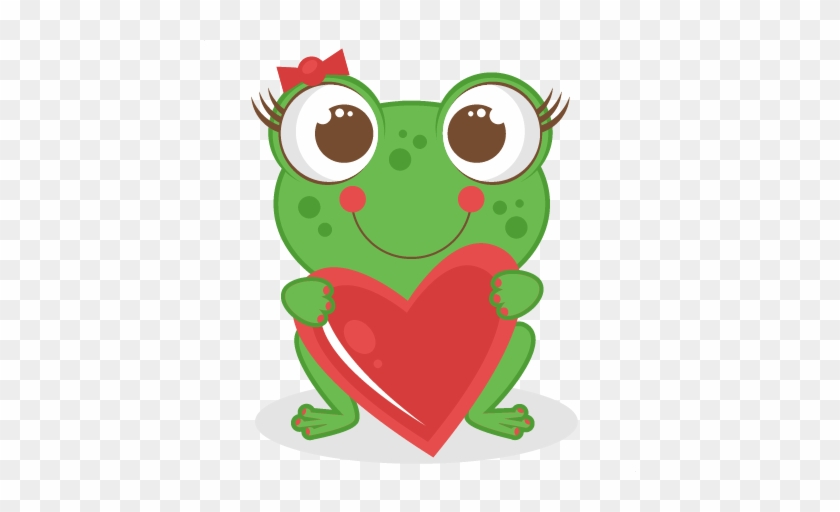 Love Frog Scrapbook Titles Svg Cutting Files Frog Cut - Frog Valentine Clipart #103272