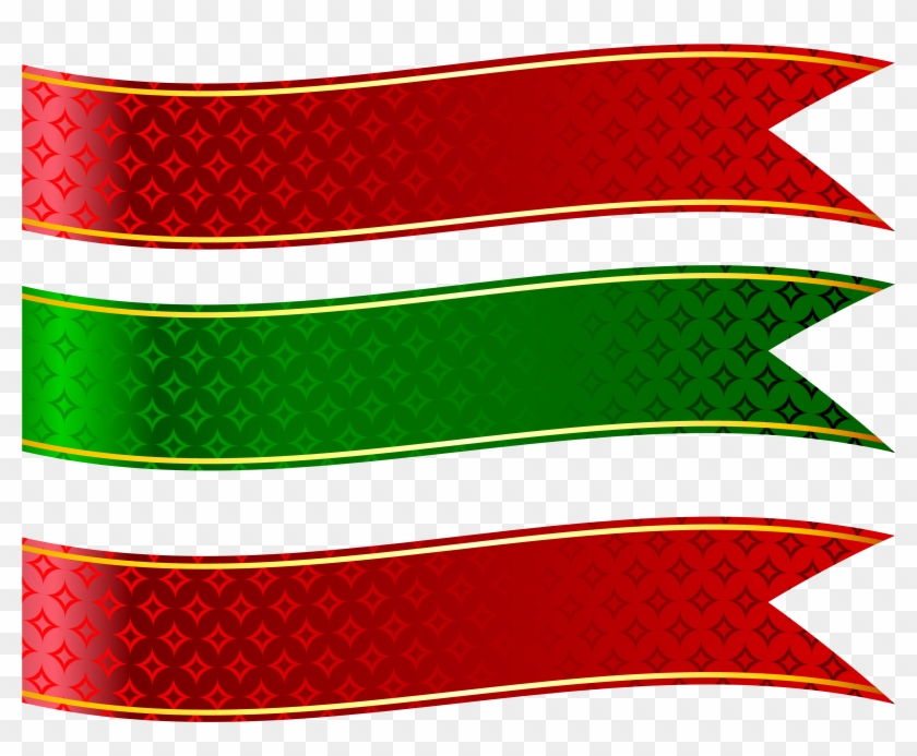 Green And Red Banners Set Png Clipart Picture - Banner Shapes Png #103370