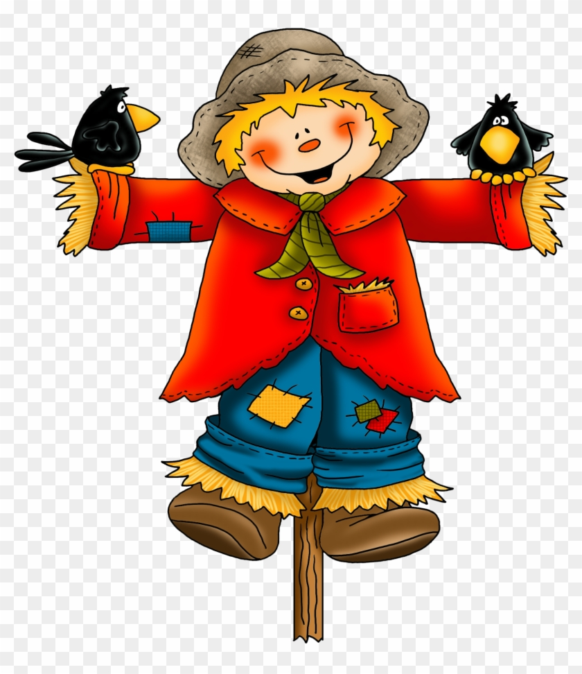 Scarecrow Clipart - Scarecrows In The Pumpkin Patch: Linework Pattern Workbook #103374