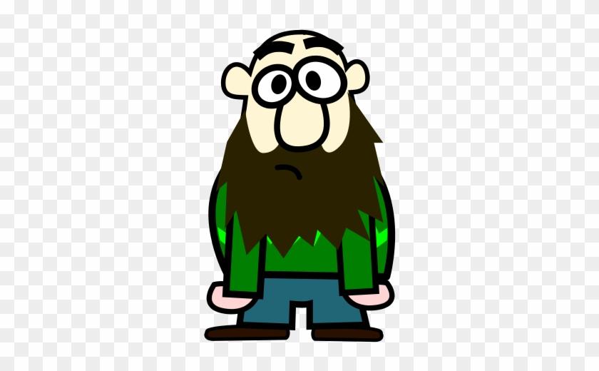 Bald Man With Beard Cartoon Clip Art At Clker Com Vector - Cartoon Man With Beard #103424